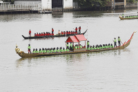 The rehearsal of the Royal Barge Procession / Nationphoto Prasert Thepsri