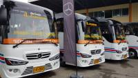 Picture of microbuses already used in interprovincial routes