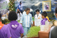 """Her Royal Highness Princess Maha Chakri Sirindhorn on Monday graciously presided over the opening of the """"13th See San Pan Mai in Tribute to Her Majesty Queen Sirikit"""" exhibition. // Nationphoto: Tanachai Pramanpanich"""