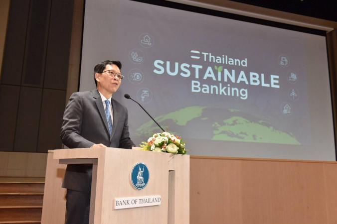 """Reducing ESG risks will improve the financial stability of commercial banks,"" says Bank of Thailand governor Veerathai Santiprabhob."