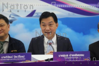 THAI's president Sumeth Damrongchaitham speaks to the press on Tuesday. – The Nation