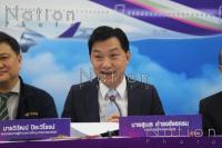 THAI's president Sumeth Damrongchaitham speaks to the press on Tuesday. – The Nation