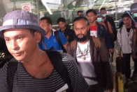 A number of Thai crew members on their trip back to Thailand on August 12. File photo/NATIONPHOTO