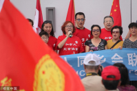 Overseas Chinese communities in the Greater Toronto Area hold a peaceful rally calling for an end to the violence that has gripped China's Hong Kong Special Administrative Region in recent weeks, Aug 11, 2019. [Photo/VCG]