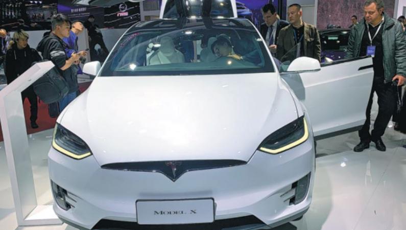 Tesla's Model X  (Photo: China Daily)