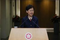 Hong Kong Chief Executive Carrie Lam Cheng Yuet-ngor meets the press ahead of an Executive Council meeting in Hong Kong on Aug 20, 2019. (PHOTO / CHINA DAILY)