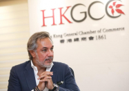 Chairman of the Hong Kong General Chamber of Commerce talks to China Daily on Tuesday about current situation and his forecast for Hong Kong's economy. (CALVIN NG / CHINA DAILY)