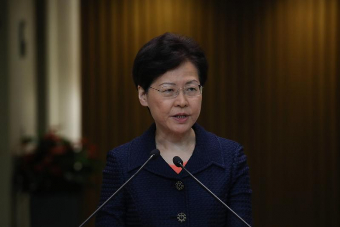 Hong Kong Chief Executive Carrie Lam Cheng Yuet-ngor meets the press ahead of an Executive Council meeting in Hong Kong on Aug 20, 2019. (PHOTO / CHINA DAILY)