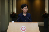 Hong Kong Chief Executive Carrie Lam Cheng Yuet-ngor meets the press ahead of an Executive Council meeting in Hong Kong on Aug 20, 2019. [Photo/chinadaily.com.cn]