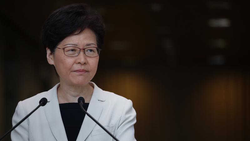 Hong Kong Chief Executive Carrie Lam Cheng Yuet-ngor meets the press ahead of an Executive Council meeting in Hong Kong on Aug 27, 2019. (PHOTO / CHINA DAILY)