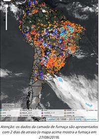 Brazil space agency, known as Inpe, estimates there have been more than 84,000 fires in Brazil between 1 January 2019 and 27 August 2019.