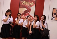 Thai students attend the opening of the 14th China-Thailand Film Festival in Bangkok on August 24.