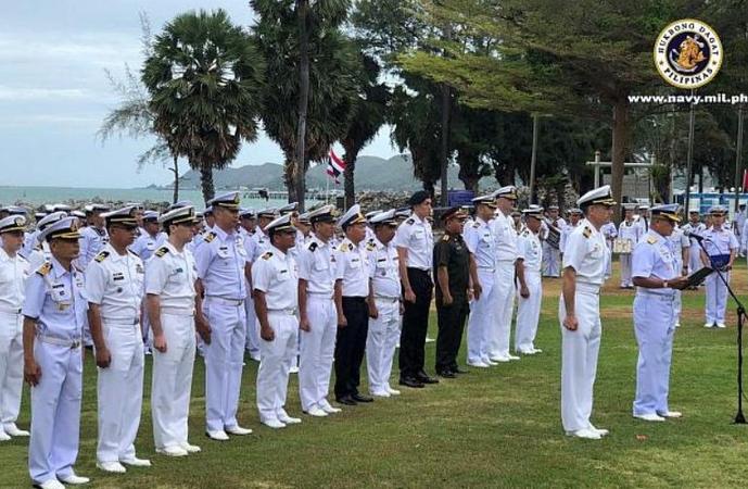 Asean-US maritime exercise opening ceremony at Sattahip naval base, Thailand. (Photo courtesy of the Philippine Navy)