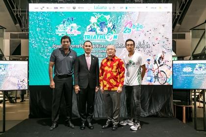 From left: Ravi Chandran, managing director, Laguna Phuket; Khemmapol Auitayakul, secretary to the Minister of Tourism and Sports Phakaphong Tavipatana, Phuket Governor; and Atiwara Kongmalai aka Toon Bodysla, representing the Kao Kon La Kao Foundation