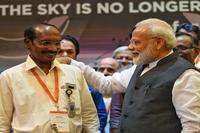Prime Minister Narendra Modi with ISRO Chief K Sivan. (Photo: Twitter | @PIB_India)