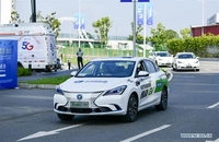 A Level 4 self-driving Changan automobile does a driving drill on July 26 in a pilot zone for 5G-based autonomous driving in Southwest China's Chongqing municipality. [Photo /Xinhua]
