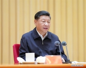 General Secretary of the Communist Party of China (CPC) Central Committee Xi Jinping, also Chinese president and chairman of the Central Military Commission, addresses a meeting highlighting Party building in central Party and state institutions in Beijing, capital of China, July 9, 2019. [Photo/Xinhua]