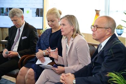 From left, Uffe Wolffhechel, Satu Suikkari-Kleven, Kjersti Rodsmoen, and Staffan Herrstrom