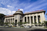 The State Bank of Việt Nam's headquarters in Hà Nội. Many key interest rates will be reduced from September 16. Photo SBV