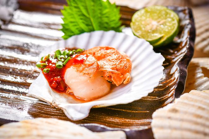 Hokkaido Hotate delicacies at Up & Above Restaurant
