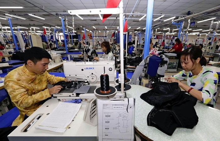 A sewing factory in Vietnam (Courtesy of Vietnam News Agency)