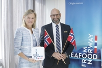 Kjersti Rodsmoen, left, Norway's ambassador to Thailand, and Asbjorn Warvik Rortveit