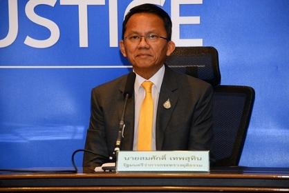 Justice Minister Somsak Thepsuthin