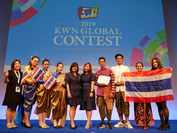 The awards ceremony for the Panasonic Kid Witness News (KWN) Global Contest 2019 was held in Tokyo, Japan.