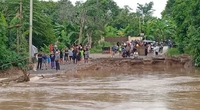 A file photo, taken on September 23, of a flooded area in Kabin buri district of Prachin Buri province
