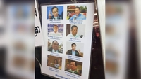 Photos of CNRP leaders have been placed on the Thai-Cambodian border. Photo supplied