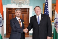 Jaishankar met Pompeo on Monday and they held talks on several bilateral, regional and global issues. (Photo: Twitter | @DrSJaishankar)