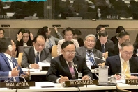 Union Minister Kyaw Tin attends ASEAN-UN Ministerial Meeting at UN Headquarters in New York on September 28. (Photo-MOFA)