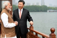 Prime Minister Narendra Modi with Chinese President Xi Jinping in Wuhan. (File Photo: PIB)