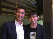 Thanathorn Juangroongruangkit (Left) and Joshua Wong (Right)
