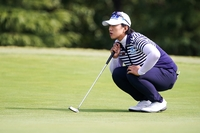 Amy Yang of South Korea looks over a green on the 1st hole during Round 1 of Buick LPGA Shanghai at Shanghai Qizhong Garden Golf Club on October 17, 2019 in Shanghai, China. (Photo by Yifan Ding/Getty Images)