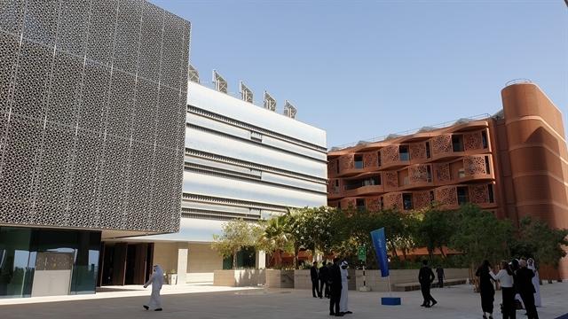 Mohamed bin Zayed University of Artificial Intelligence (MBZUAI) campus in Masdar City in Abu Dhabi, United Arab Emirates. — VNS Photo Trọng Kiên