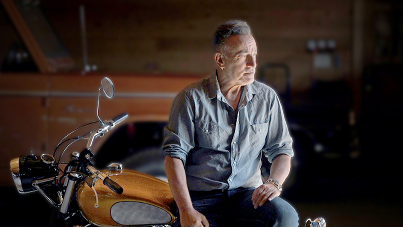 Bruce Springsteen at his home in Monmouth County, New Jersey. Photo: Michael S. Williamson/Washington Post