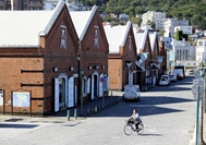 Few tourists are seen at a quiet bay area in Hakodate in Hokkaido, Japan. Photo: The Japan News/ANN