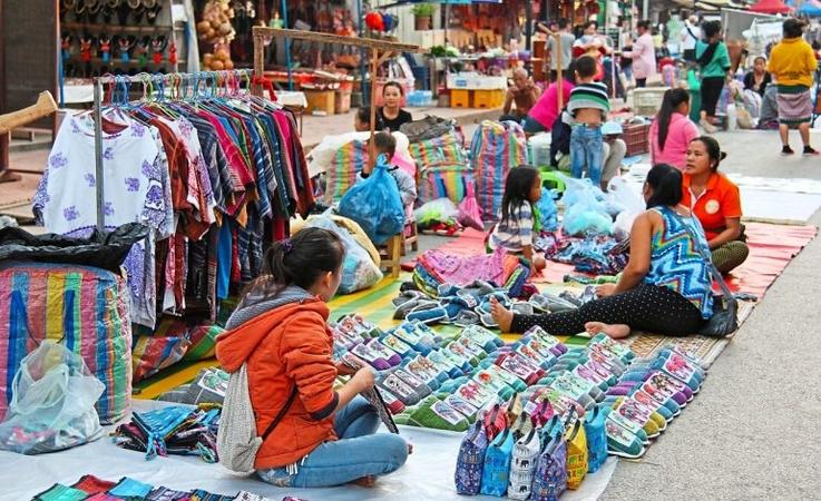 Night market in Luang Prabang.