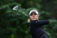 Nelly Korda of the United States tees off at the 4th hole during the first round of the Taiwan Swinging Skirts LPGA Presented By CTBC at Miramar Golf Country Club on October 31, 2019 in New Taipei City, Taiwan. (Photo by Suhaimi Abdullah/Getty Images)