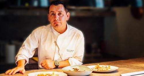 Spanish-born chef Sandro Aguilera