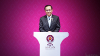 Prime Minister General Prayut Chan-o-cha chairs the opening ceremony of the 35th Asean Summit on Sunday morning at Impact Exhibition & Convention Centre in Muang Thong Thani.(Korbphuk Phromrekha/