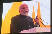 PM Modi projected India as one of the very few attractive investment destinations globally and called upon the Thai business leaders to be part of the India growth story. (Photo: Twitter/@PMOIndia)