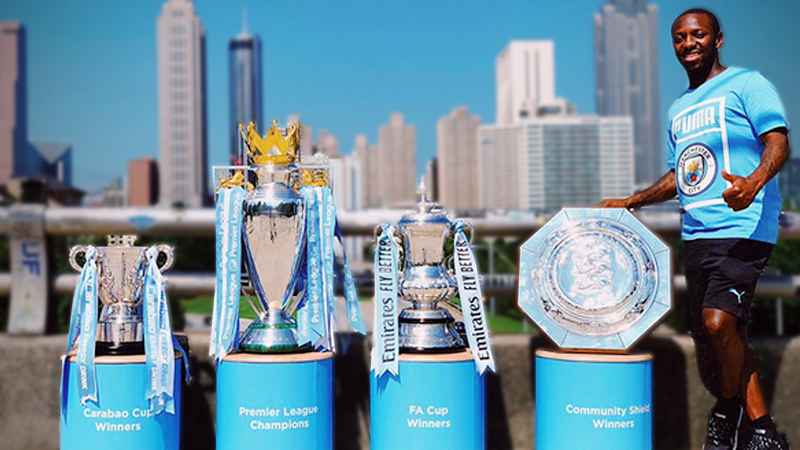 City legend Shaun Wright-Phillips will accompany the trophies for a series of exciting fan events.