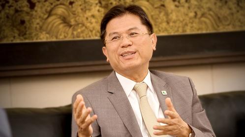 The bank's president Predee Daochai