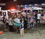 This file photo shows the scene in Yala following Tuesday's deadly attack.