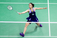 Ratchanok Intanon of Thailand seen in action during the women's singles quarter-finals against Nozomi Okuhara of Japan at the Yonex-Sunrise Hong Kong Open at the Hong Kong Coliseum on Friday. Photo: Yu Chun Christopher Wong/Eurasia Sport Images/Getty Images