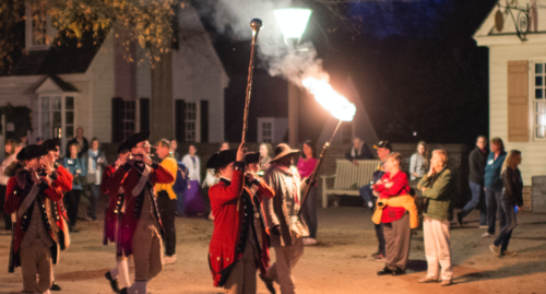 The Fife and Drum Corps performs in Colonial Williamsburg in 2017. MUST CREDIT: Washington Post photo by John McDonnell