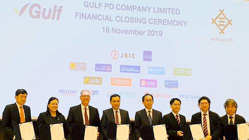 The Asian Development Bank (ADB) and Gulf PD Co Ltd signed a $180-million (Bt5.4 billion) agreement on Monday.