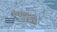 A map locating the Hong Kong Polytechnic University in Kowloon, Hong Kong Photo by: The Washington Post — The Washington Post
